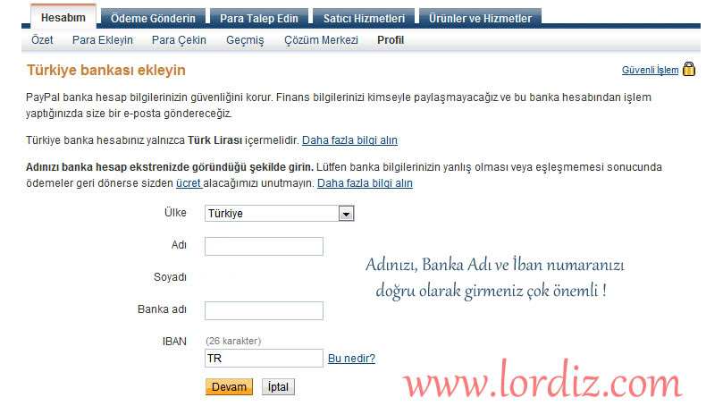 0712y - Paypal Hesabından Türkiye'deki Bankalara Para Transferi