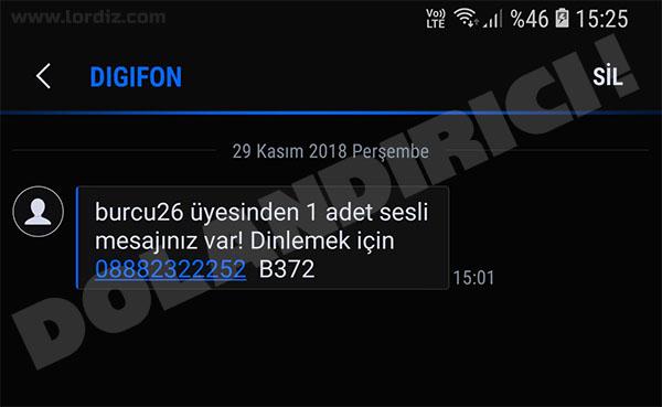 """0888 DIGIFON: """"Burcu26 Üyesinden 1 Adet Sesli Mesajınız Var!"""" - cep-telefonu-teknoloji-haber"""