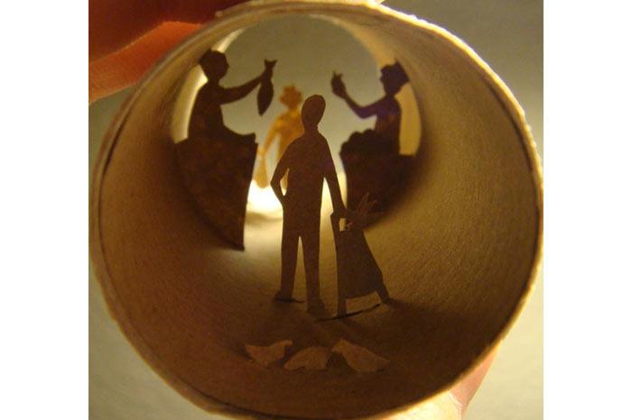 Anastassia Elias'dan Tuvalet Kağıdı Rulosu ile Sanat - karma
