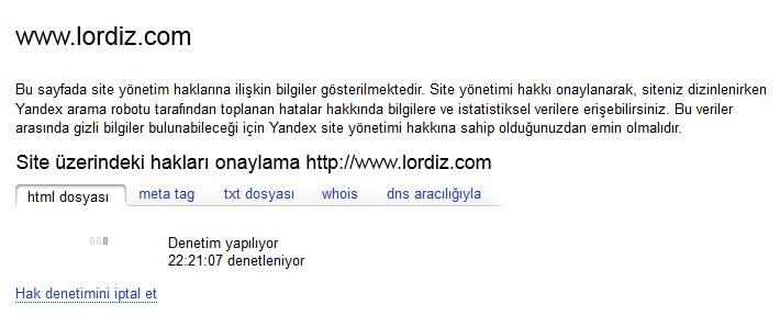 20597229 - Yandex Arama Motoruna Site Ekleme (Resimli Anlatım)