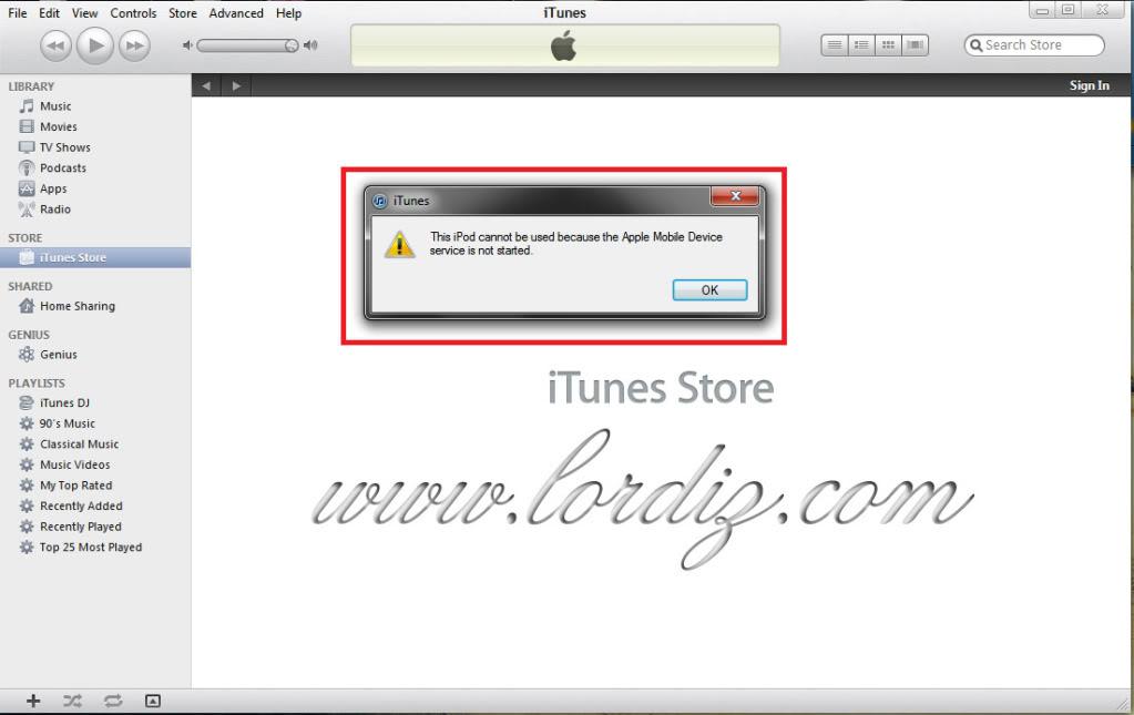 """25584126 - İTunes'da """"This İpod/İphone Cannot Be Used..."""" Hatası ve Çözümü"""