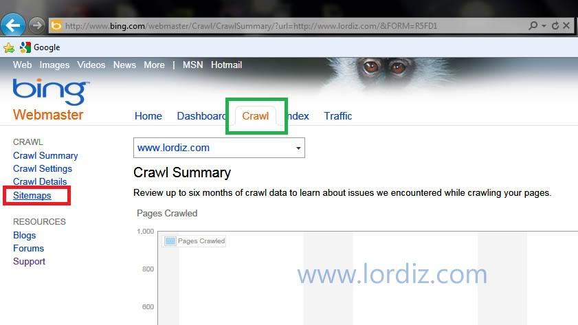 29048962 - Bing.com Arama Motoruna Site ve Site Haritası Ekleme