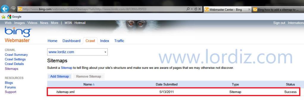34085215 - Bing.com Arama Motoruna Site ve Site Haritası Ekleme
