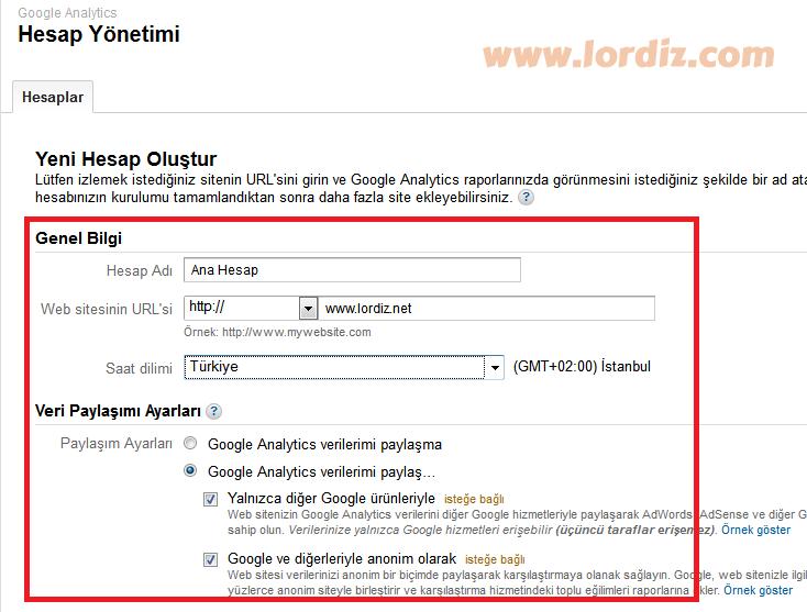Google Analytics Hesap Kurulumu (Resimli Anlatım) - web-master, internet-siteleri