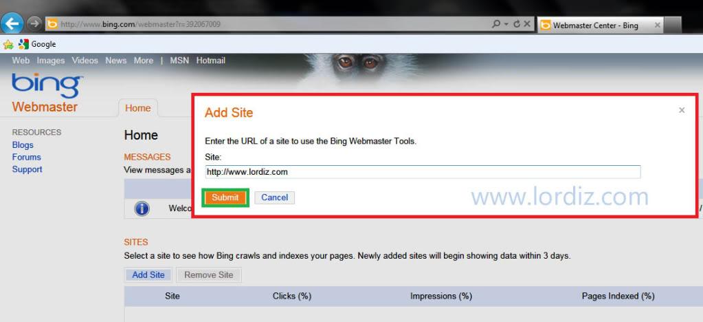 47502683 - Bing.com Arama Motoruna Site ve Site Haritası Ekleme