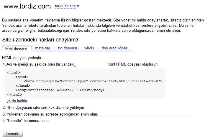 52283179 - Yandex Arama Motoruna Site Ekleme (Resimli Anlatım)