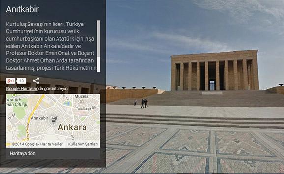Anitkabir StreetView zps3ade2e5b - Anıtkabir, 360° Panorama 3D Görüntüyle Google Haritalarda