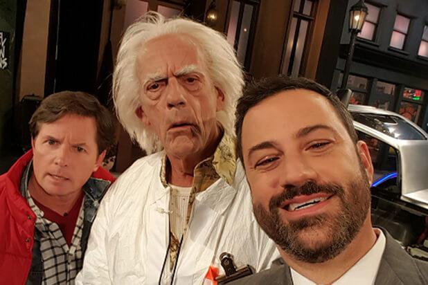 Back to the Future Jimmy Kimmel zpsi44cjg0q - Geleceğe Dönüş; Marty McFly ve Doktor Brown Tekrar Bir Arada