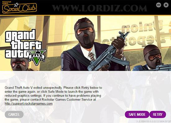 """Gta5 exited unexpectedly - GTA5'de Çökme Sorunu; """"Grand Theft Auto V exited unexpectedly."""""""