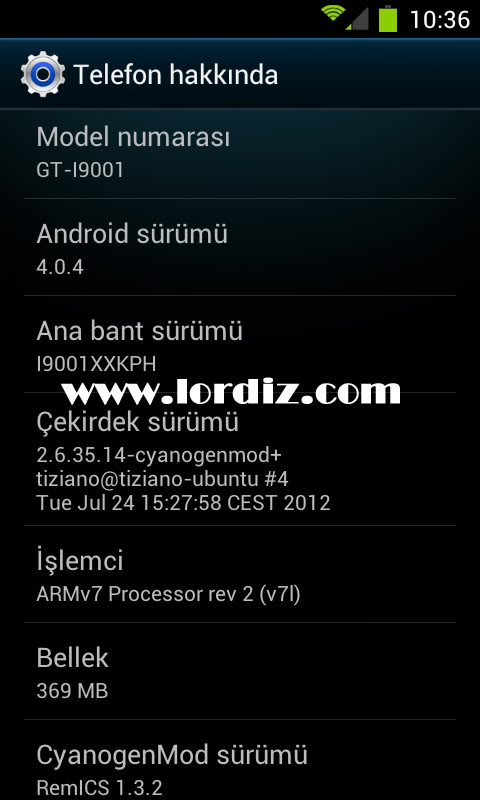 Screenshot1 - Samsung Galaxy S Plus i9001 İçin REMİCS Android 4.0.4