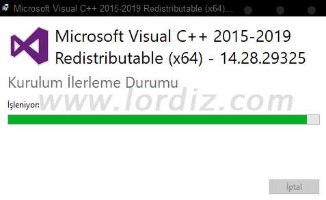 VisualC++2015 2019 14.28.29325 - Cyberpunk 2077 Uygulaması için Ön Koşulların Yüklemesi Başarısız Oldu!?