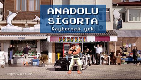 "Anadolu Sigorta ""Street Fighter"" Reklamı"