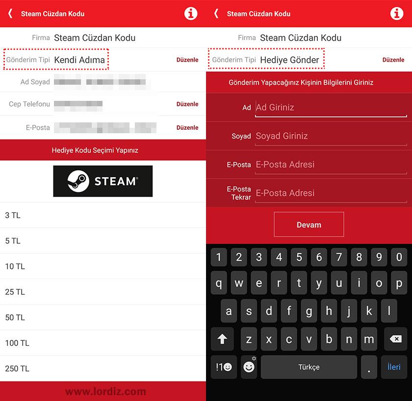 akbank steam cuzdan kodu2 - Akbank Mobil Uygulamasından Steam Cüzdan Kodu Satın Almak