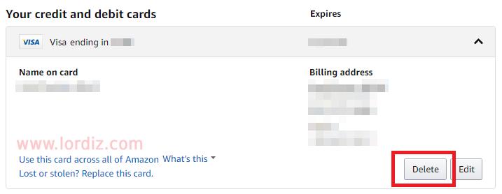 amazon kartsil2 - Amazon.com ve Amazon.com.tr'den Kredi Kartı Nasıl Silinir?