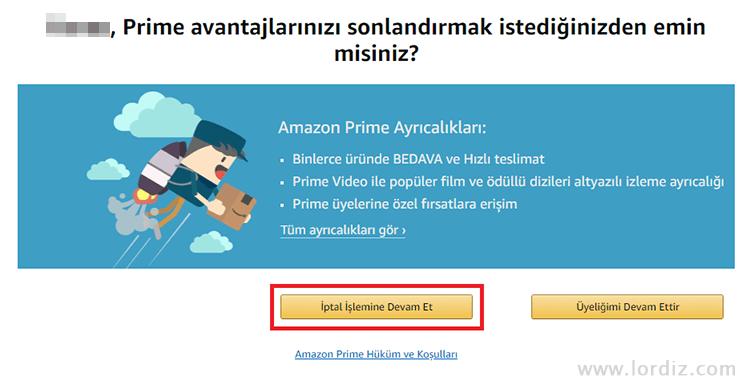 Otomatik Yenilenen Amazon Prime Aboneliğini İptal Etme!