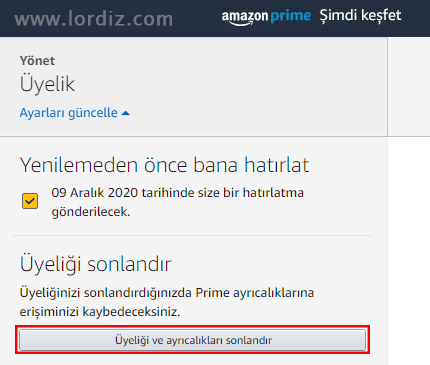amazon prime iptal - Otomatik Yenilenen Amazon Prime Aboneliğini İptal Etme!