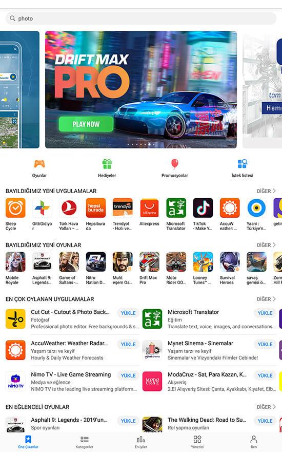 """appgallery uygulama magazasi - Google Play Alternatifi Android Uygulama Mağazası """"Huawei APPGallery"""""""