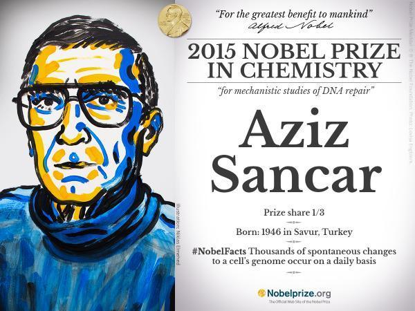 aziz sancar nobel zpswsb84irt - Tarihte Nobel'e Aday Olan ve Nobel Kazanan Türkler