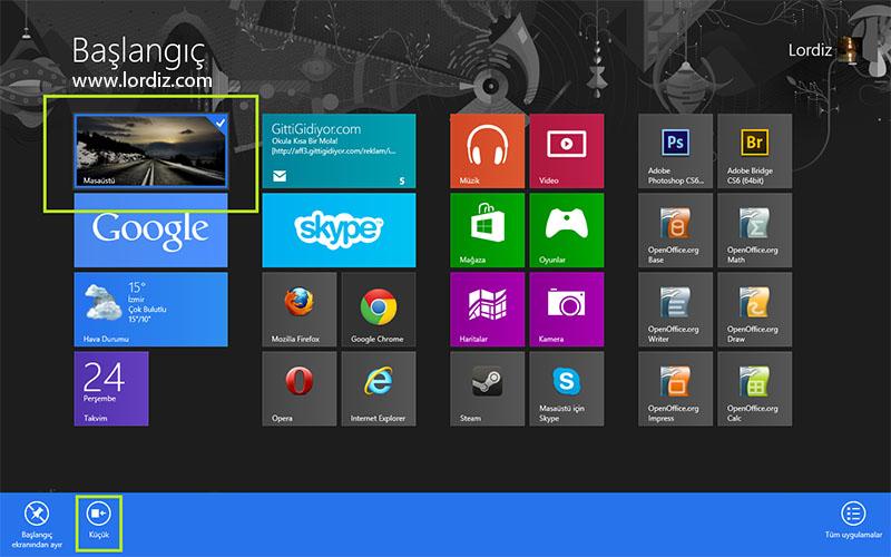 Windows 8'de Başlangıç Ekranını Kişiselleştirme - windows-destek