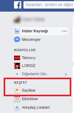 Facebook'da Beğendiğim Sayfaları Nasıl Görürüm - windows-destek