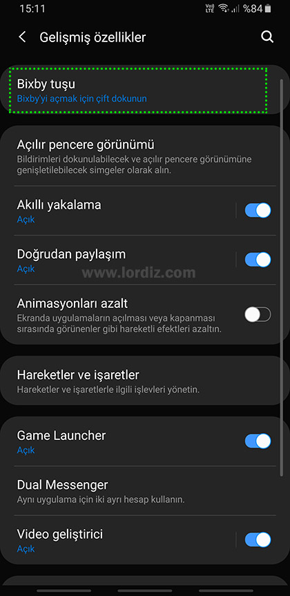 bixby tusunu degistirmex1 - Samsung Galaxy Telefonlarda Bixby Tuşunun İşlevini Değiştirme
