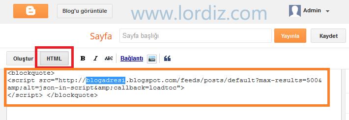 Blogger için Bağımsız Arşiv Sayfası ve Sidebar'da Son Yazılar - web-master