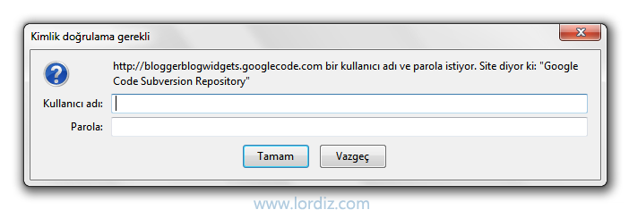 "Blogger ""Google Code Subversion Repository"" Hatası ve Çözümü - web-master"