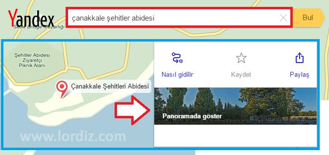 canakkale panorama zpsvvzntjf2 - Yandex Panorama ile Çanakkale Şehitliklerine Sanal Tur
