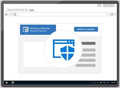"Microsoft'tan Chrome'a Özel Eklenti ""Windows Defender BP"""