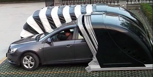 Çinli Şirketten Elektrik Motorlu Portatif Garaj