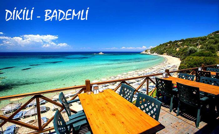 İzmir Dikili Kalem Adası, Bademli Köyü, Bademli Plaj ve Koyları