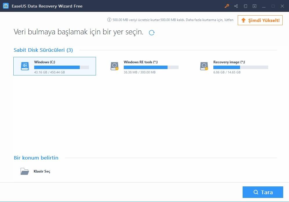 easeus silinen dosyalari kurtarma2 - Bilgisayarınızda Sildiğiniz Her Dosya EaseUS ile Tekrar Sizlerle!