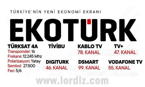 """Türkiye'nin Yeni Ekonomi Kanalı """"EKOTÜRK TV"""""""