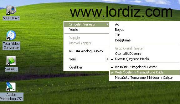 Masaüstü Simgelerinin Arka Plan Rengini Kaldırma - windows-destek