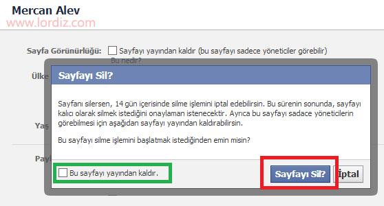 facebook sil3 zps73d2d2b9 - Bir Facebook Sayfasını Silmek, Yayından Kaldırmak