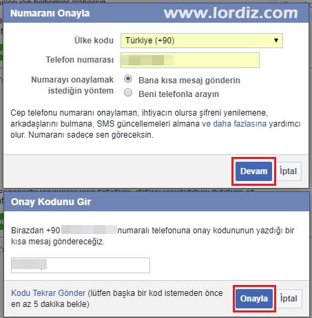 facebook sms sifre sifirlama4 - Facebook için Sms ile Şifre Sıfırlamayı Etkinleştirme