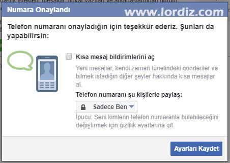 facebook sms sifre sifirlama5 - Facebook için Sms ile Şifre Sıfırlamayı Etkinleştirme