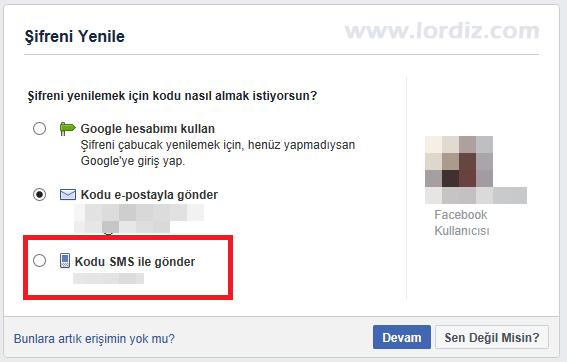 facebook sms sifre sifirlama6 - Facebook için Sms ile Şifre Sıfırlamayı Etkinleştirme