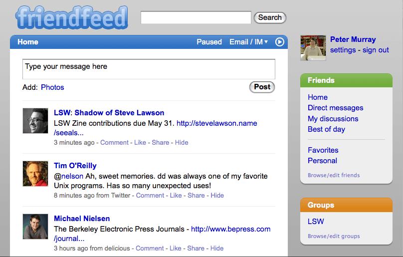 FriendFeed Sitesine Ne Oldu?