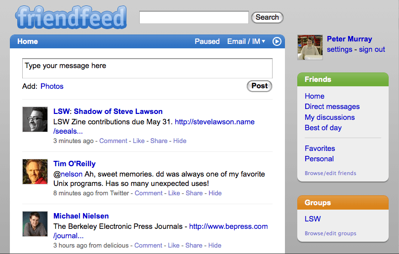 FriendFeed Sitesine Ne Oldu? - internet-siteleri