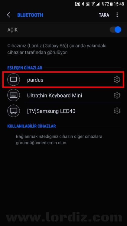 galaxys6 pardus bluetooth - Pardus'ta Bluetooth Kurulum ve Kullanımı!