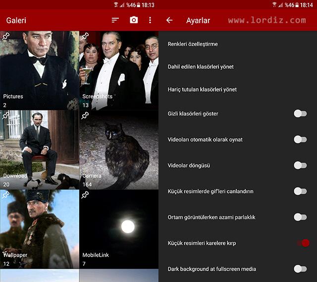 """galeri uygulamasi2 zpsqfvdspce - """"Fotoğraflar"""" için Alternatif Galeri Uygulaması """"Simple Galeri"""""""