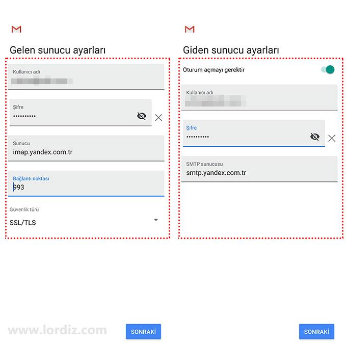 gmail yandex ekleme4 - Gmail Mobil Uygulamasına Yandex Mail Hesabı Ekleme!