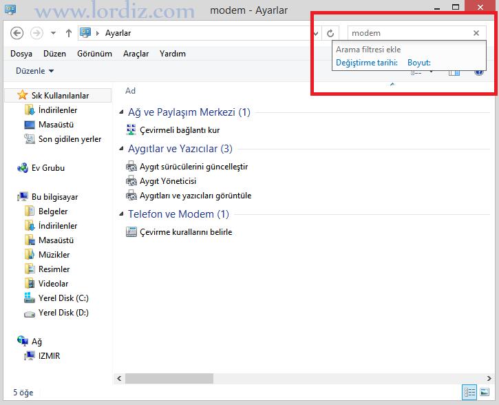 Windows 8 ve Windows 10'da Tüm Ayarlar Bir Yerde - windows-destek