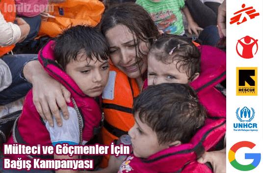 Google'dan, Mülteci ve Göçmenler İçin Bağış Kampanyası