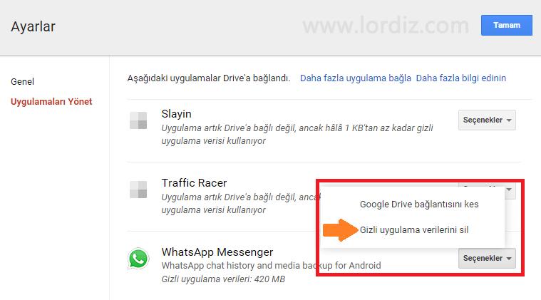 Whatsapp'da Google Drive Yedeğini Kapatma ve Silme - cep-telefonu-teknoloji-haber