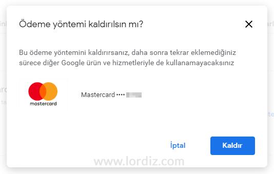 google play kart kaldir2 - Google Play (Google Pay)'den Kredi Kartı Kaldırmak