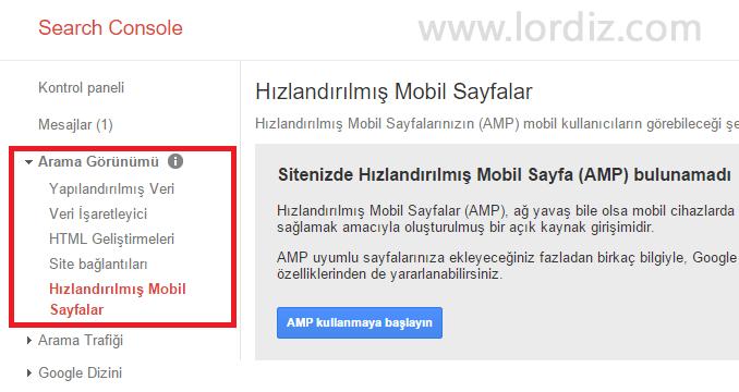 google webmaster tools amp zpsa2oh0h0e - Wordpress için Google AMP Nedir? Wordpress Amp Eklentisi!