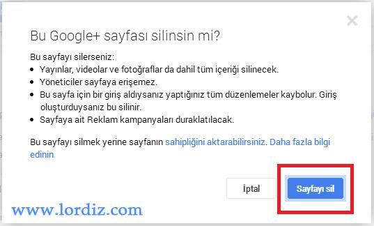 Google+'da Sayfa Silme - Sayfa Kapatma Nasıl Yapılır? - internet-siteleri