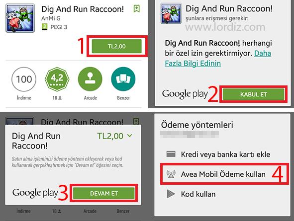 Google Play'den Mobil Ödeme ile Uygulama Satın Alma - google-play